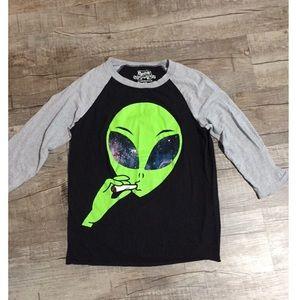 Spencer's alien smoking shirt